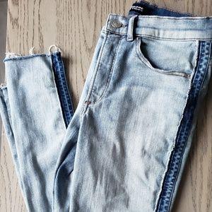 Express raw hem jeans